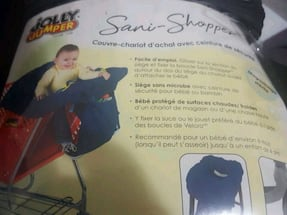 Brand new never used shopping cart cover with safety belt for sale