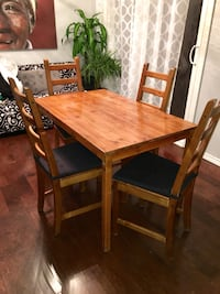 rectangular brown wooden table with four chairs dining set Stoney Creek, L8E 3E9