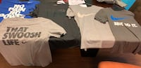 Nike gently used t shirts one under armour all medium all for $25 327 mi