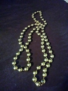 Strand of Small Gold Mardi Gras Beads