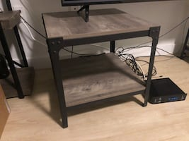 Industrial style end tables- set of 2