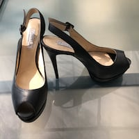 Charles & Keith Black Platform Heeled Sandals