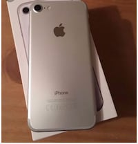 Silver iphone 7 with box 552 km
