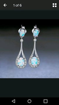 2pair fire opal earrings $5 each Delmar, 21875