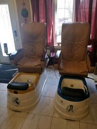 brown Spa pedicule Chair