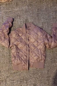 Dusty rose TNA bomber jacket