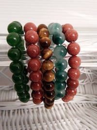 New Beaded Stretch Bracelets from Natural Stone West Springfield