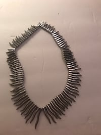 Silver Choker necklace - 15 inch