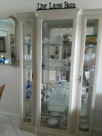 white wooden framed glass display cabinet Pembroke Pines, 33024