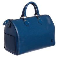 Louis Vuitton Blue Epi Leather Speedy 35 Bag Las Vegas, 89121