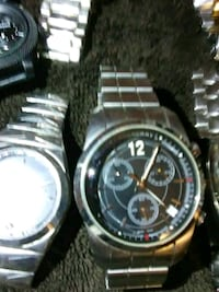 round silver chronograph watch with link bracelet Phoenix, 85040