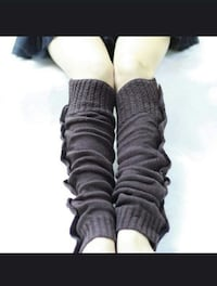 New grey knitted with buttons legwarmers Montréal, H8T