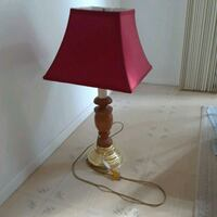 Lamp, 3 stage, wood and brass color Liverpool, 13090