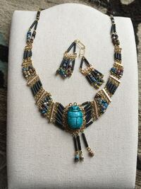 Pharaonic design Egyptian handmade necklace and earrings Towson, 21204