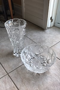 Heavy Crystal Vase and Bowl Set by Schott Zwiesel