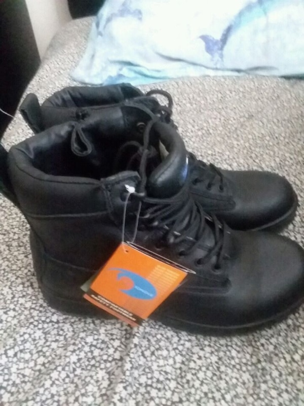 pair of black leather  obo newboots matco tools