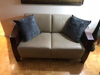 *Free Delivery* solid wood and leather Italian loveseat  Toronto, M9A 4W3