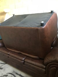 2 brown leather sofas, one 3 seater, and one 2 seater. Both in MINT CONDITION. BOTH FOR $60 Brampton, L6P 3H6