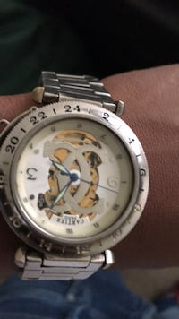 round silver-colored chronograph watch with link bracelet Capitol Heights, 20743