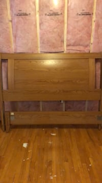 brown wooden headboard and footboard Winnipeg, R2X 0L8
