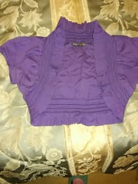 women's purple vest
