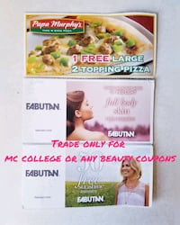 Trade only for MC College or beauty coupons Winnipeg, R3E 1Y5