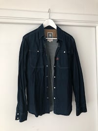indigo denim button-up jakke Oslo, 0260