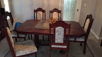 Brown wooden dining table set 3726 km