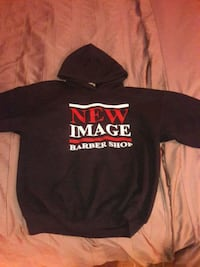 black and red  pullover hoodie