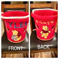 "Large Red ""Winnie the Pooh"" Toy Bucket with Rope Handles Nokesville, 20181"