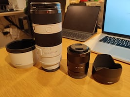 2 Sony Lens for sale(70-200f4,55f1.8)
