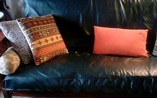 Solid wood futon with mattress and cover