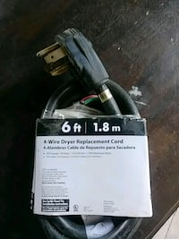 black 4-wire dryer replacement cord