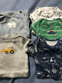 baby's four assorted onesies McAllen, 78501