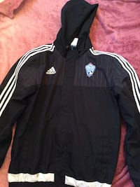 black and white Adidas zip-up jacket Thorold, L2H