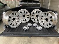 """17"""" Ford wheels with center caps and lugnuts"""