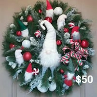 Xmas Gnomes wreath