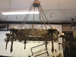 Antique  Fountain 6-Light Natural Iron Hanging Chandelier