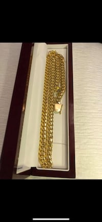 14k gold plated Miami Cuban set