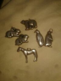 1900s CANIVAL CHARMS SILVER ON COPPER BRASS FINIAL Pompano Beach, 33069