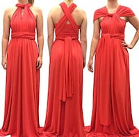 MUST GO! Coral Infinity Dress - One Size