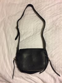 black leather crossbody bag with silver studded Terrebonne, J6Y 2B5