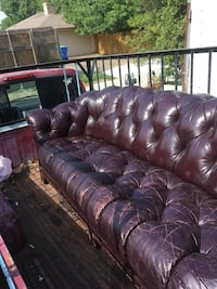 All leather couch Rowlett, 75088