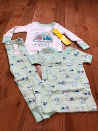 Toddler girl 3 pcs. Pj sets