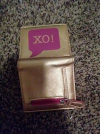 Pink and gold XO wallet Manchester, 37355