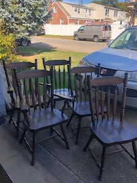5 Broyhill solid wood chairs  Piscataway, 08854