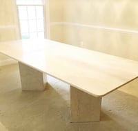 Stunning Custom Made SOLID MARBLE dining Table.  Seats 8 Fairfax, 22033