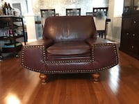 brown leather sofa chair Kitchener
