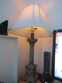 Vintage table lamp & shade 517 km