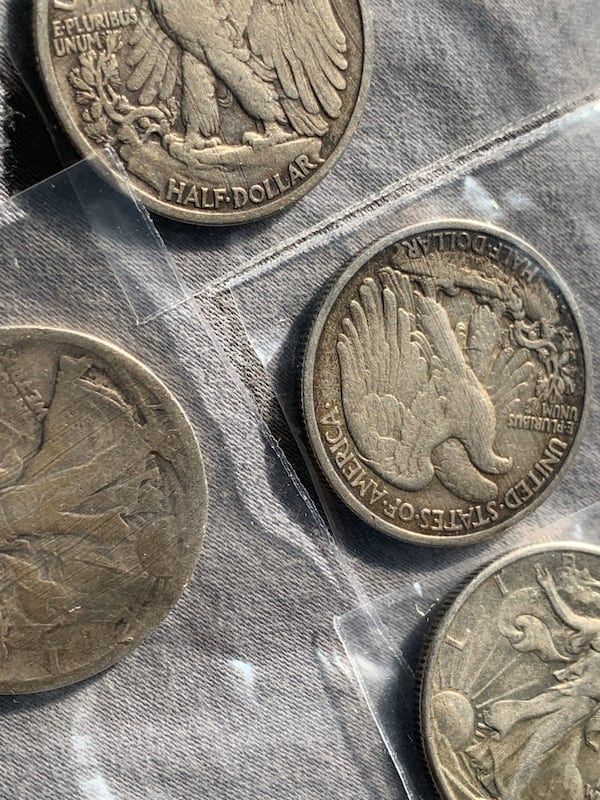 Four half dollar walking liberty coins fe7cad51-63ad-4a33-8bea-981fb20887a7